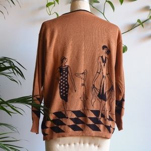 VINTAGE Great Gatsby Jazz Age Knit Sweater
